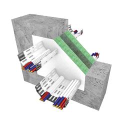 schéma utěsnění elektrických kabelů